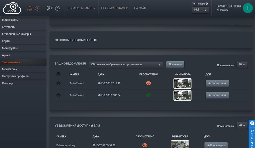 iViport - программа для облачного видеонаблюдения. Руководство. Скачать