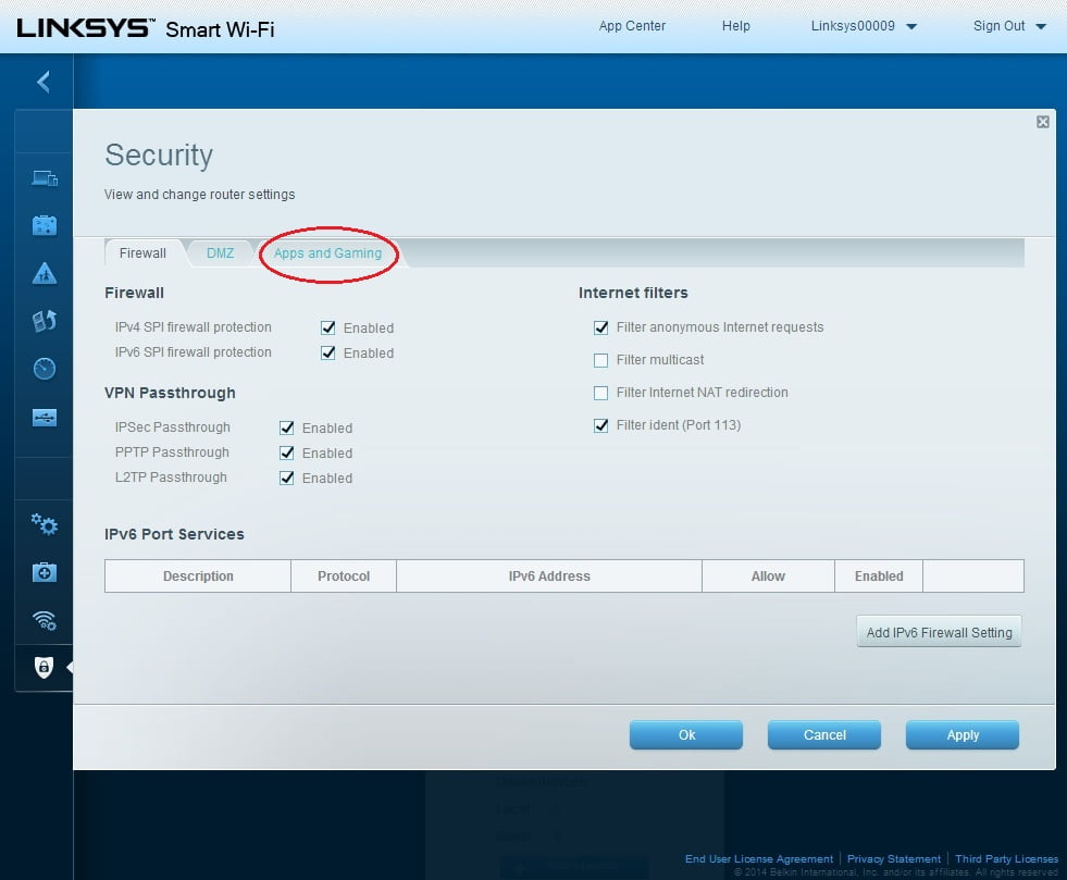 Setting Port Forwarding on routers Linksys with property